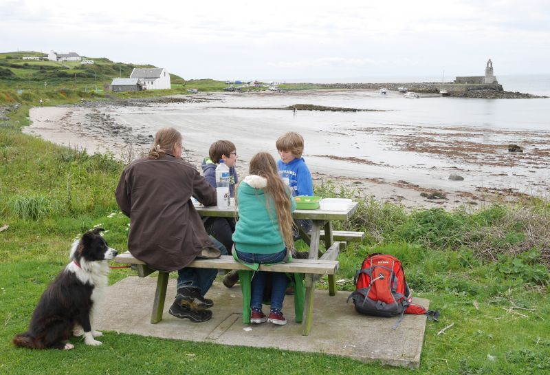 Picknick in Port Logan.