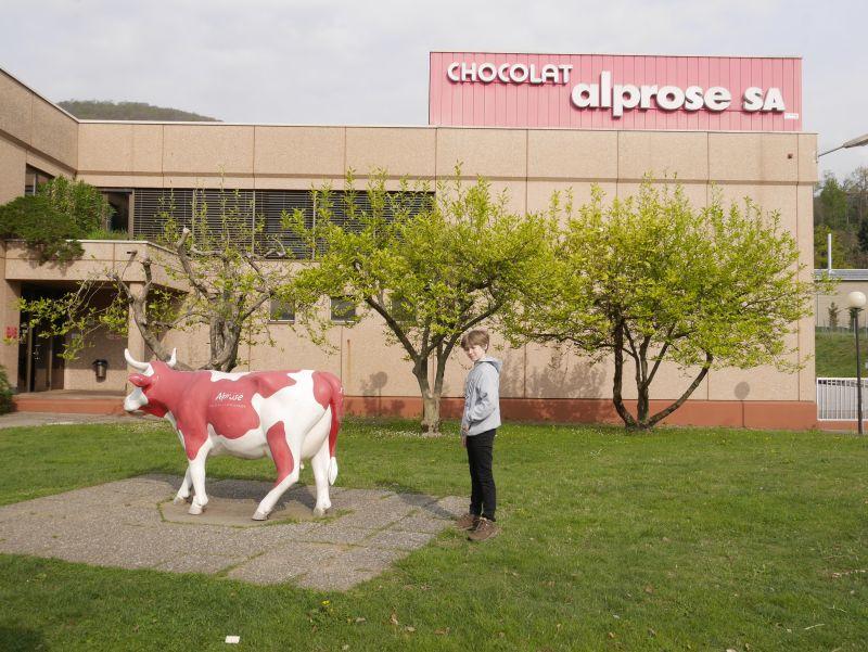 Schokoladenfabrik alprose, Caslano, Tessin, von außen