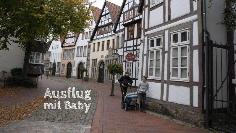 ausflug mit Baby im Kinderwagen
