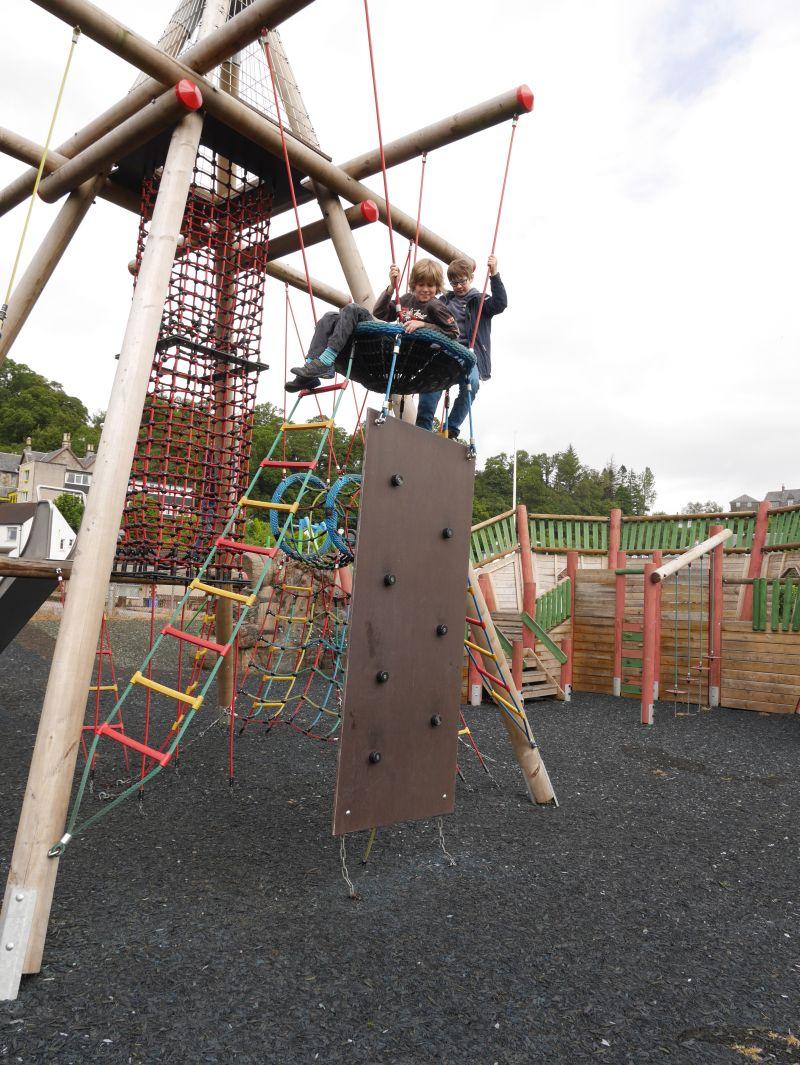 Spielplatz in Oban, Schottland