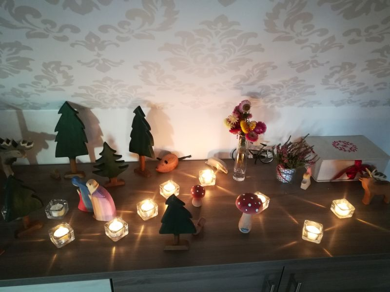 Weihnachten Maria Josef Kerzen