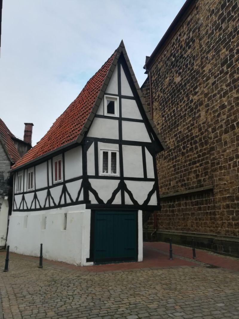 Mindens schmalstes freistehendes Haus in der Altstadt.