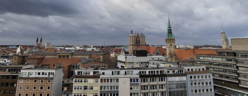 Aussicht von der Braunschweiger Quadriga