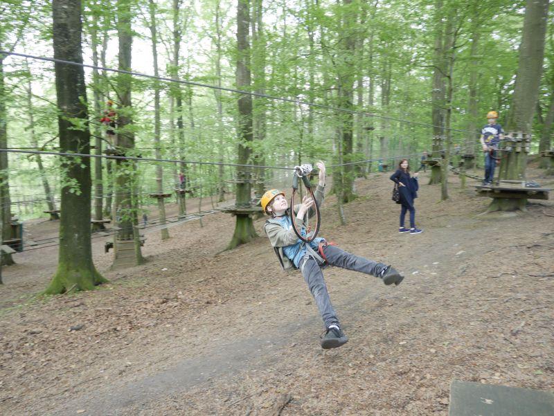 kletterpark camp adventure seeland dänemark seilrutsche