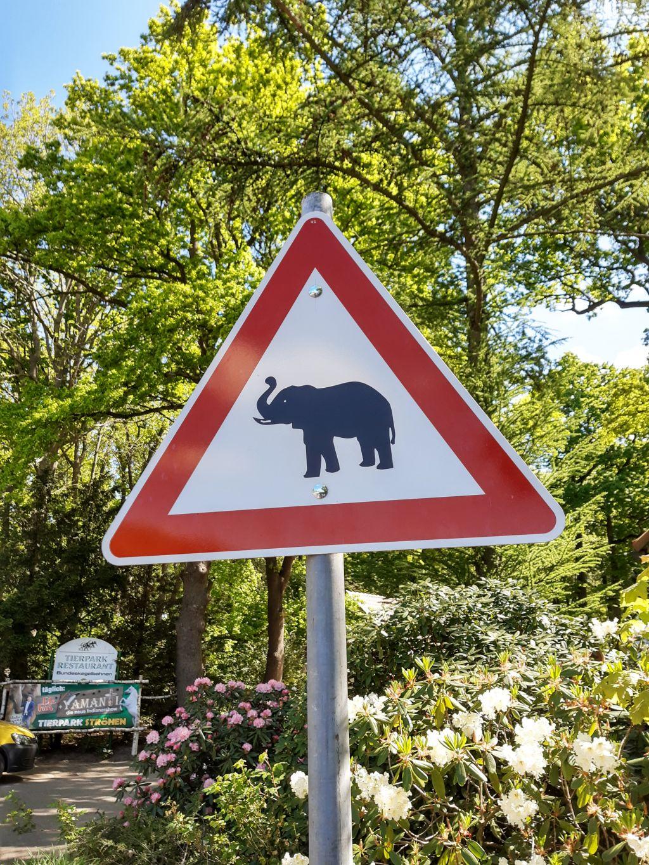 achtung elefanten schild