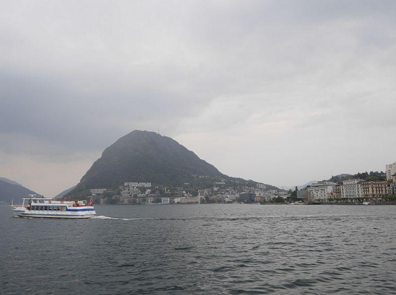 lugano monte san salvatore luganersee boot