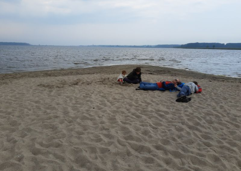 salzhaff strand bei roggow