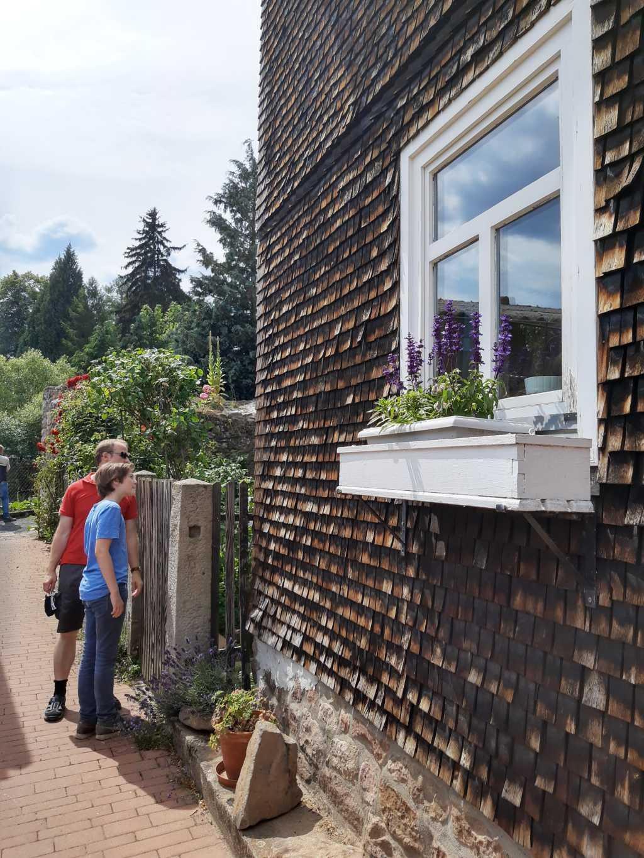 rhoen traditionelle holzfassade bischofsheim