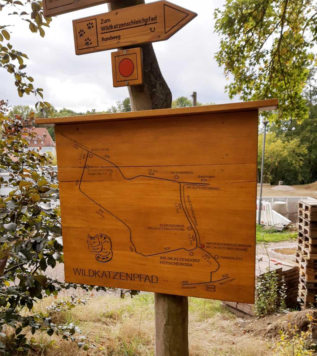 wandern mit kindern hainich wildkatzenpfad schild