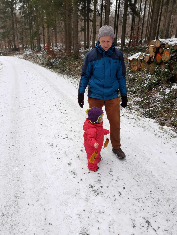 wandern in schaumburg mit baby unterer bueckeberg schnee