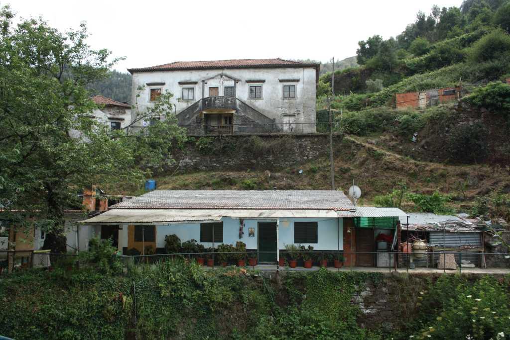 Die alte deutsche Siedlung an der Wolfram-Mine.