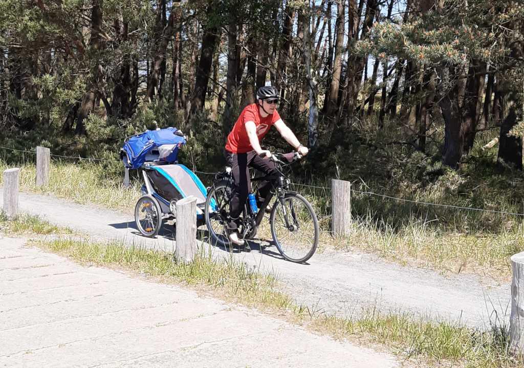 darßer ort fahrrad mit kleinkind