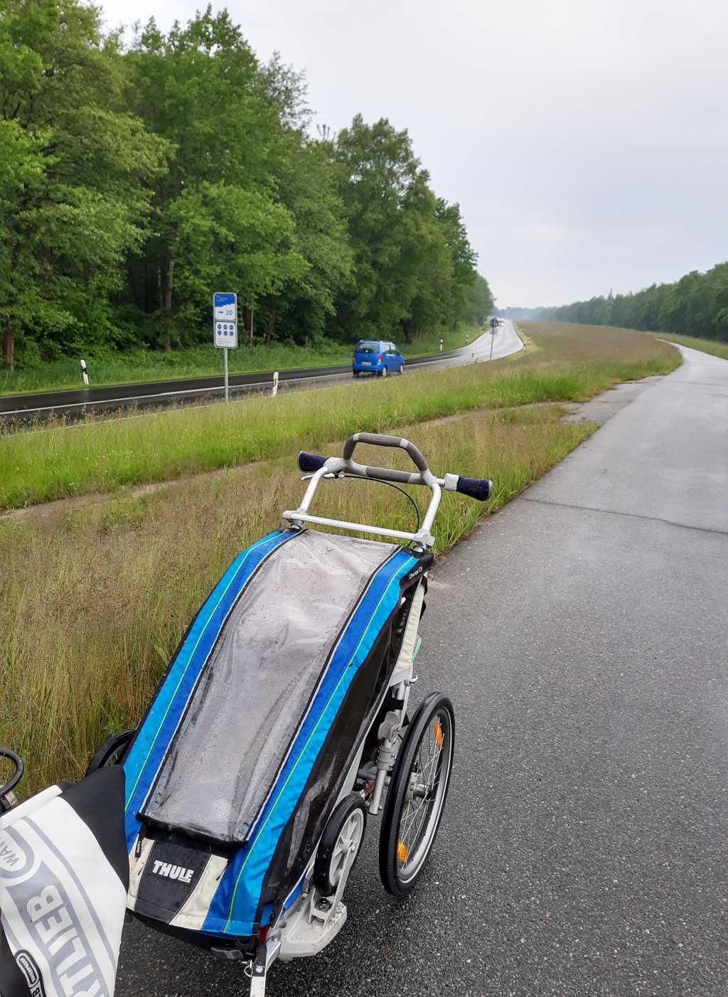 fischland-darss-zingst fahrradweg prerow zingst anhänger
