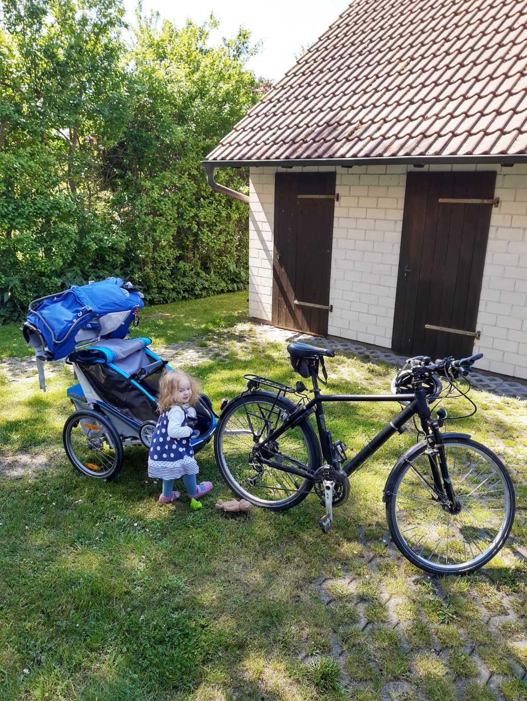 fischland-darss-zingst urlaub mit kleinkind fahrrad kraxe