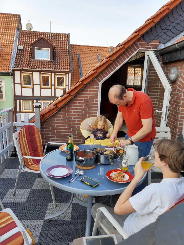 wolfenbüttel ferienwohnung dachterrasse